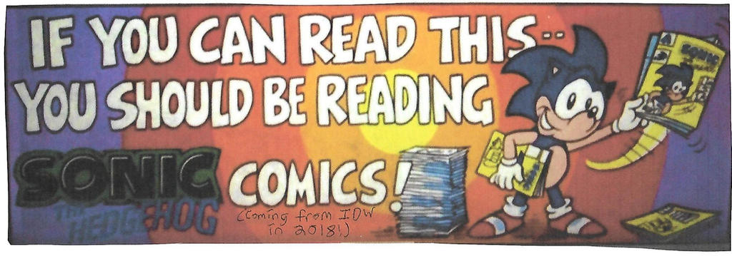 Sonic comics bumper sticker by dth1971