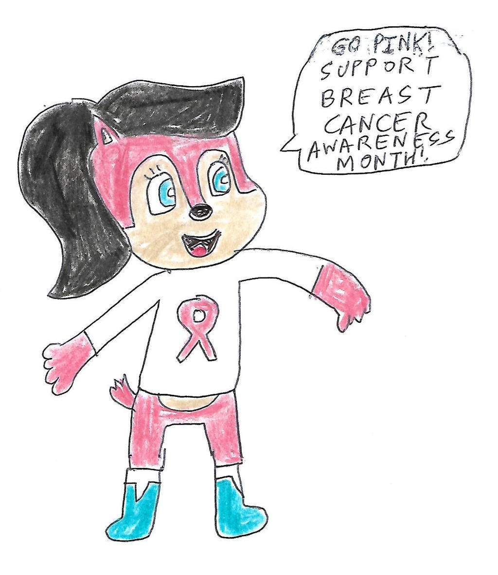 Pink Sally Acorn - Breast Cancer Awareness Month by dth1971