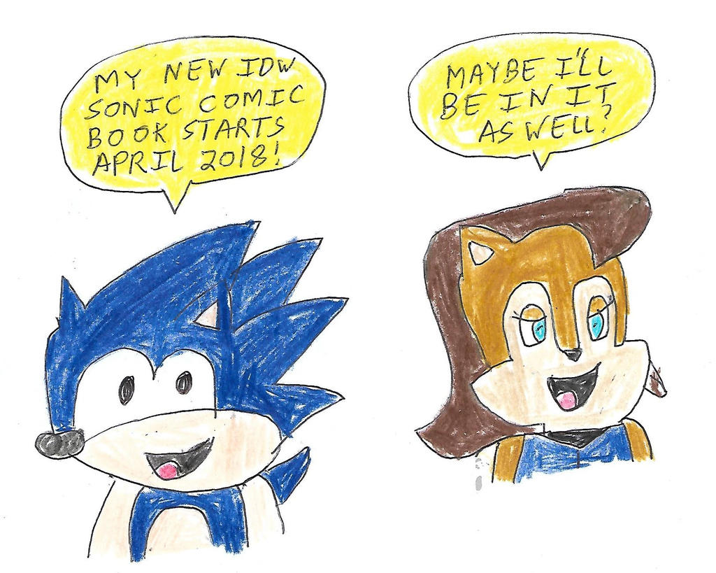 Sonic and Sally - IDW Sonic starting April 2018 by dth1971