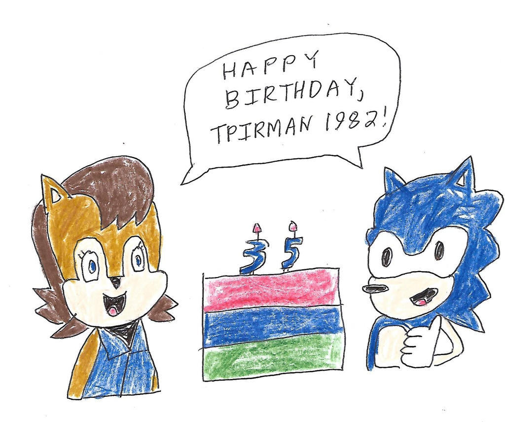 Sonic and Sally Acorn - Happy Birthday, tpirman by dth1971