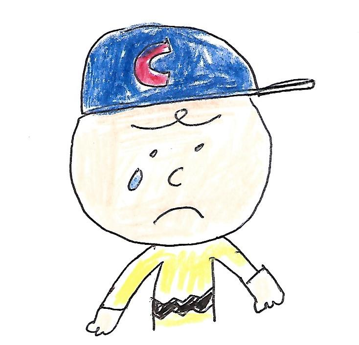 Sad Charlie Brown - Cubs baseball cap by dth1971