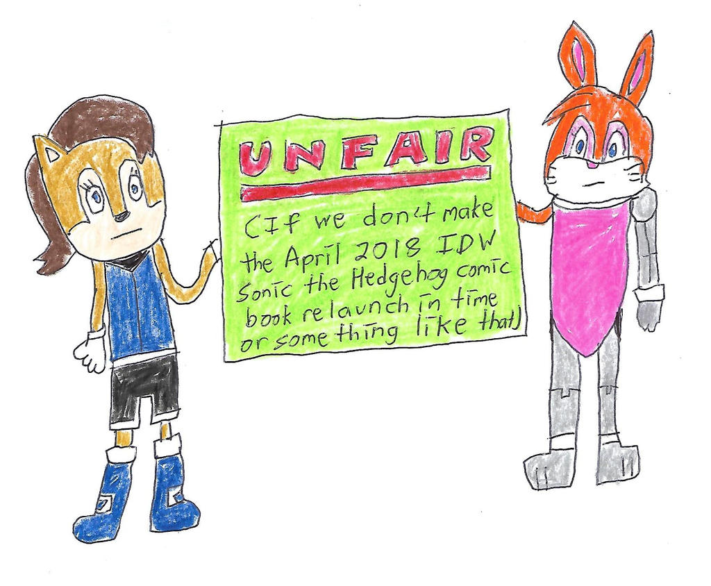 Sally and Bunnie - UNFAIR to IDW by dth1971