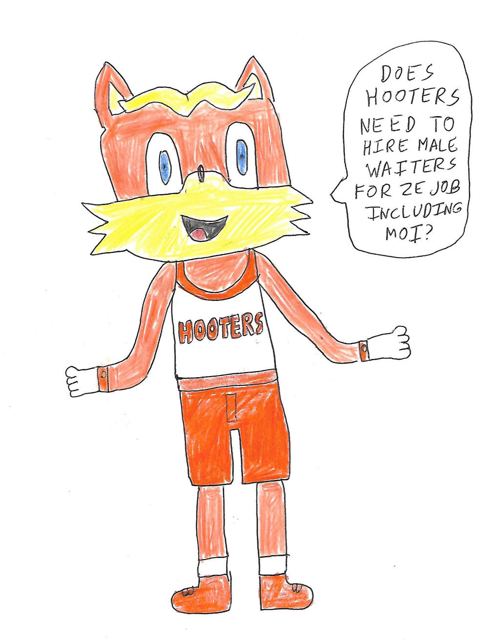 Antoine D'Coolette in Hooters Outfit by dth1971