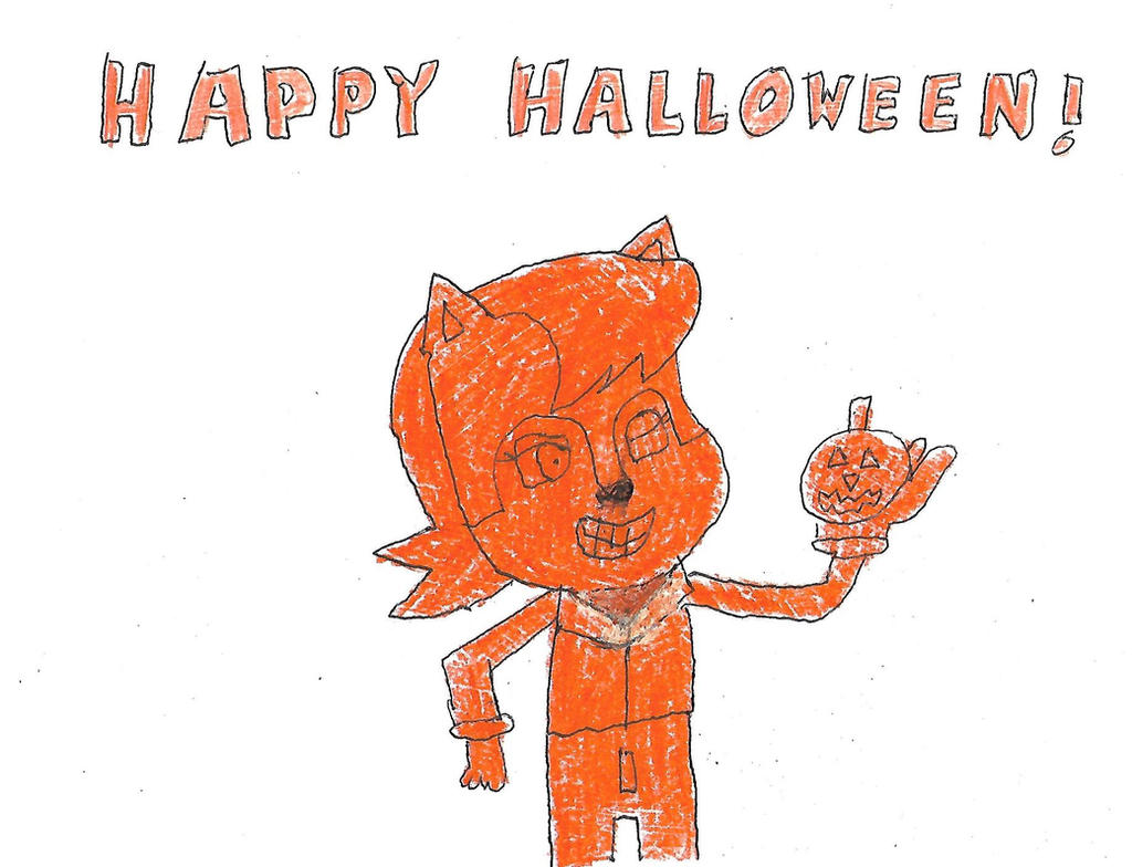 Happy Halloween from Sally Acorn by dth1971
