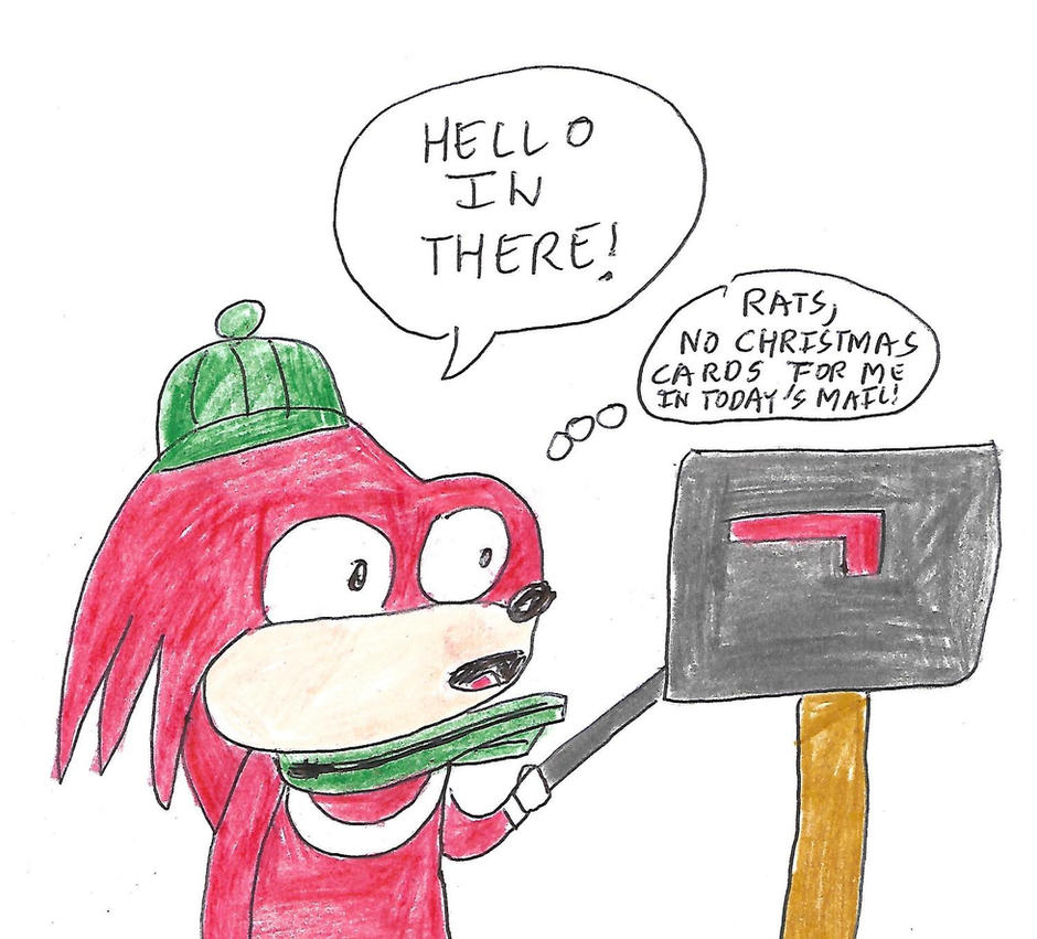Sonic 25 Days of Christmas - Day 7 (Knuckles) by dth1971