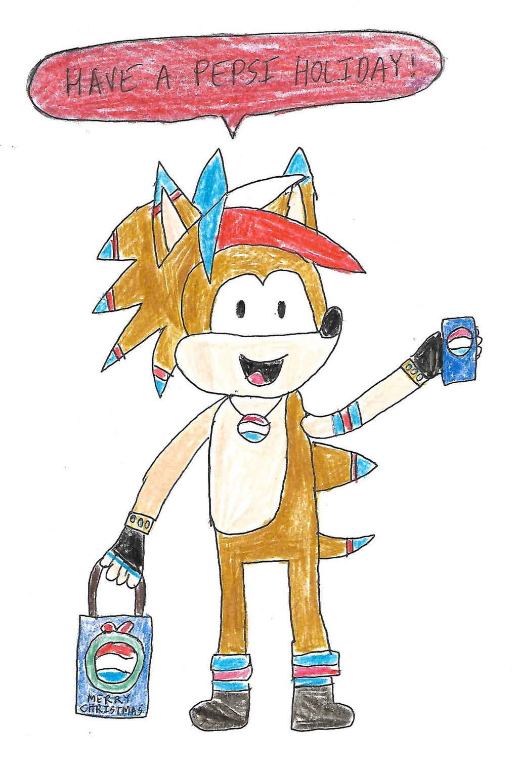 Sonic 25 Days of X-Mas - Day 19 (Pepsi Hedgehog) by dth1971