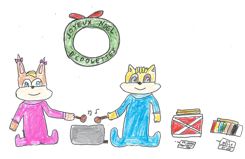 Sonic 25 Days of X-Mas - Day 24 (Belle/Jacques) by dth1971
