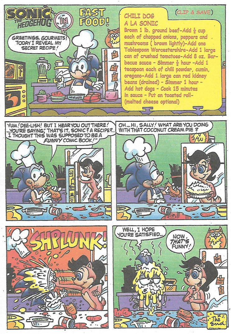 Sonic 1 page comic from 1993 - Fast Food by dth1971