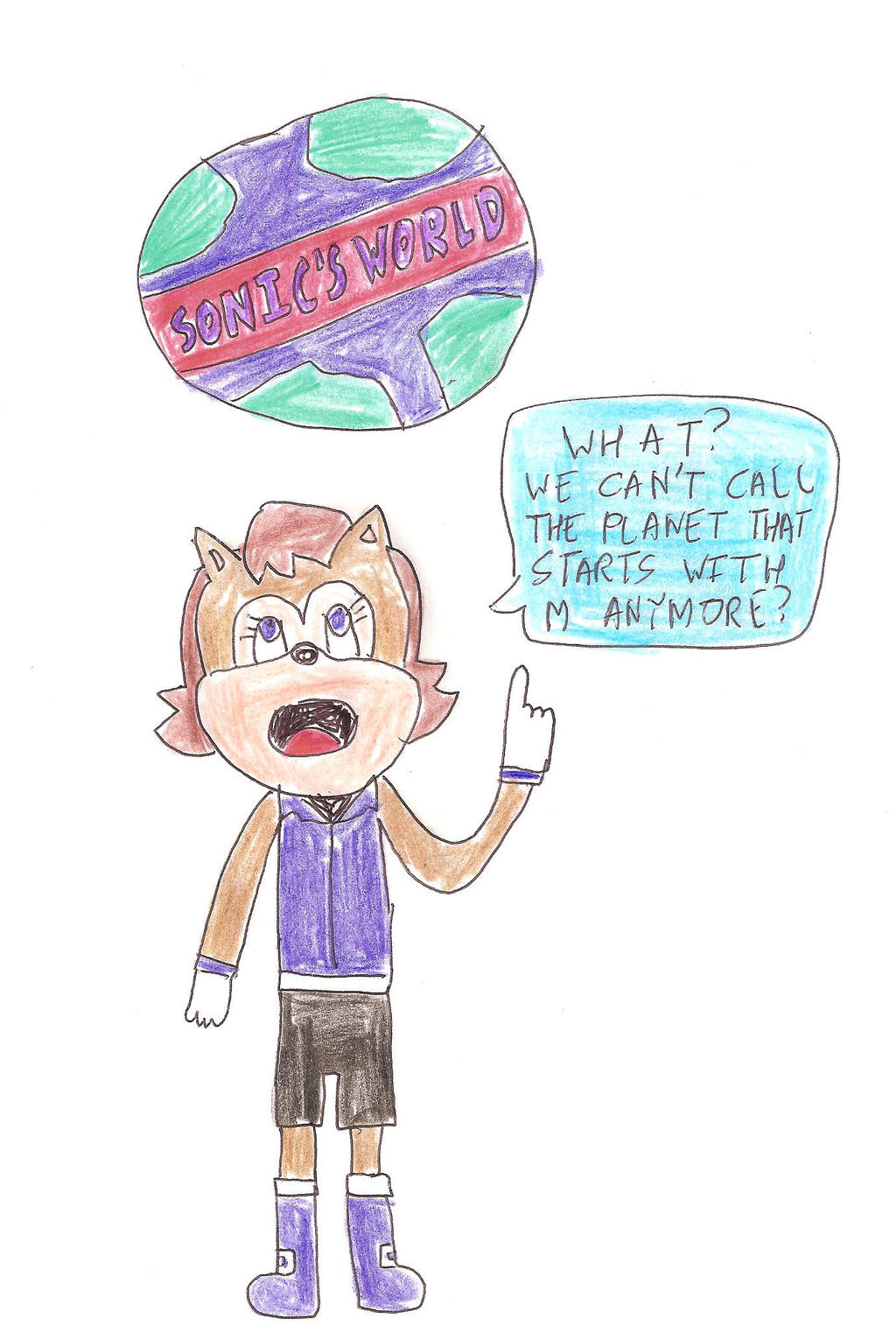 Sally's comment on Sonic's World by dth1971