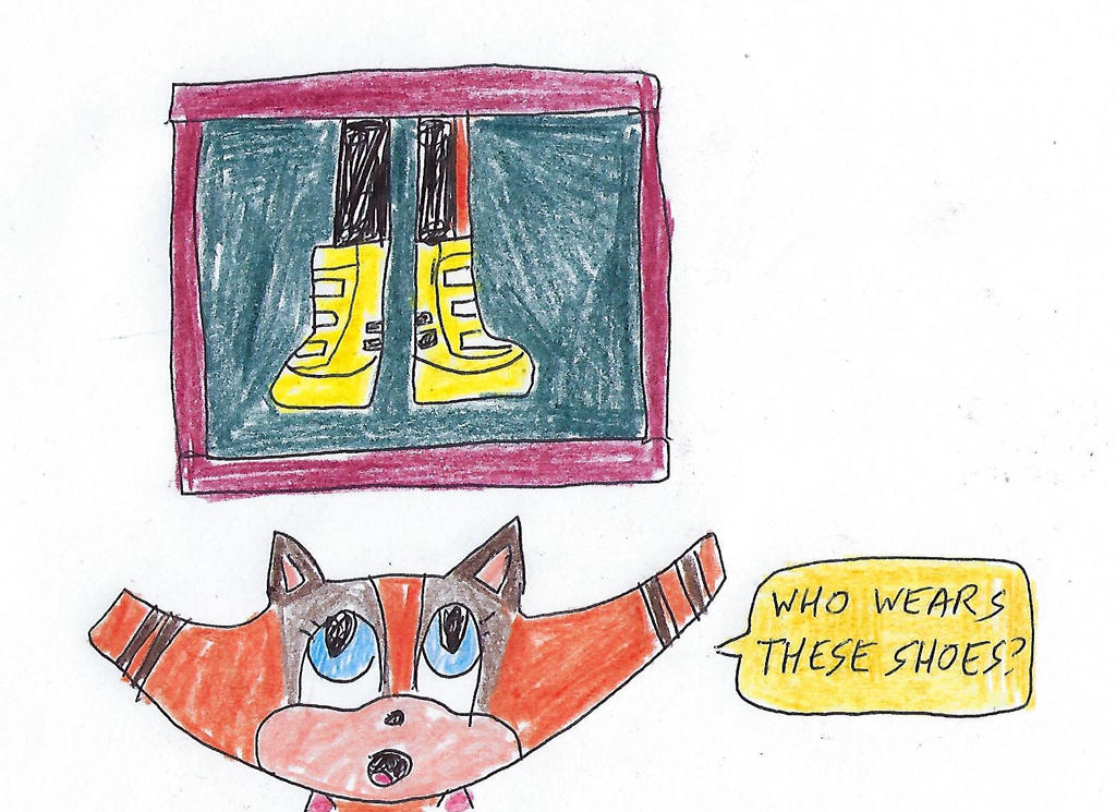 Sticks notices Tangle's shoes by dth1971