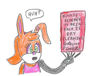 Bunnie with a message from Antoine by dth1971