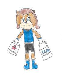 Sally Acorn on a shopping spree by dth1971