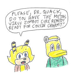 Saffron Bee needs help from Dr. Quack