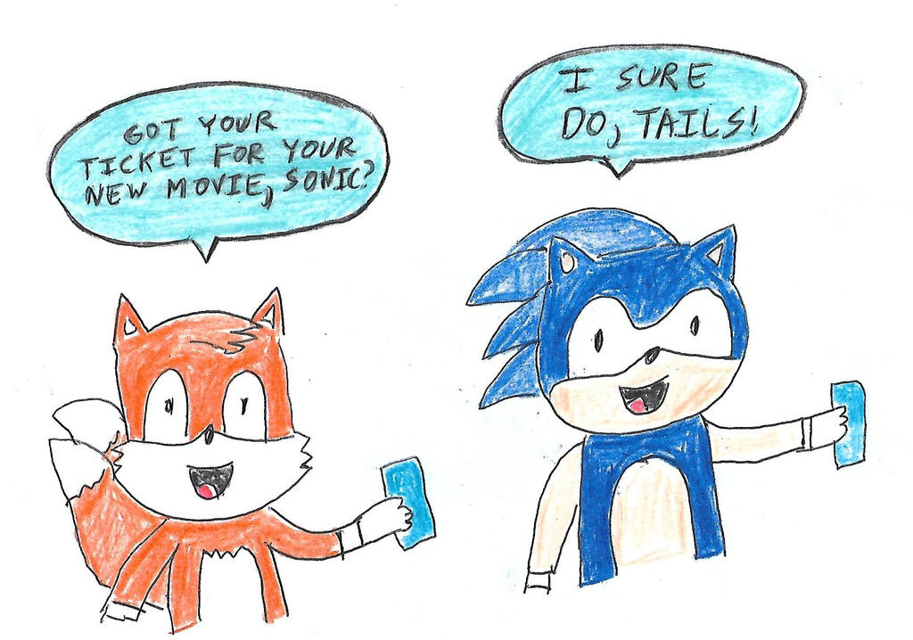 Sonic And Tails W Sonic The Hedgehog Movie Tickets By Dth1971 On Deviantart