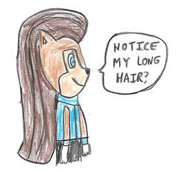 Sally Acorn with longer hair