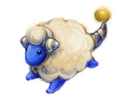 Pokemon Sketch - Mareep by BlueSkyeMonkey