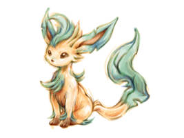Pokemon Sketch - Leafeon by BlueSkyeMonkey