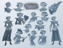 Captain Amelia sketches by tanya-buka