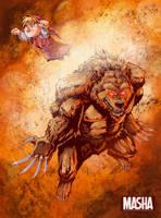 Masha and Medved - Marvel by tanya-buka