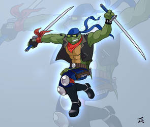 Bikers turtles from the sewers - Leo by tanya-buka