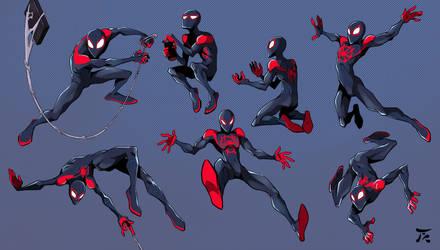 Spider poses by tanya-buka
