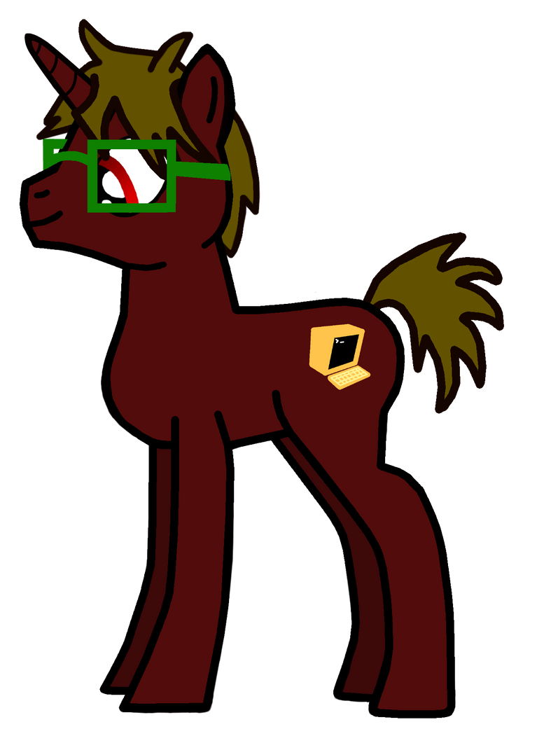 My Brony OC redrawn the 2nd! by Red-M-17