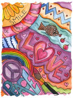 Hippy Watercolour - For Jenny by Pastel-Kisses
