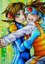 ROCKMAN.EXE - Hikari Twins by michikixthien