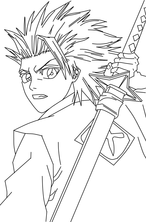 bleach coloring book pages - photo#28