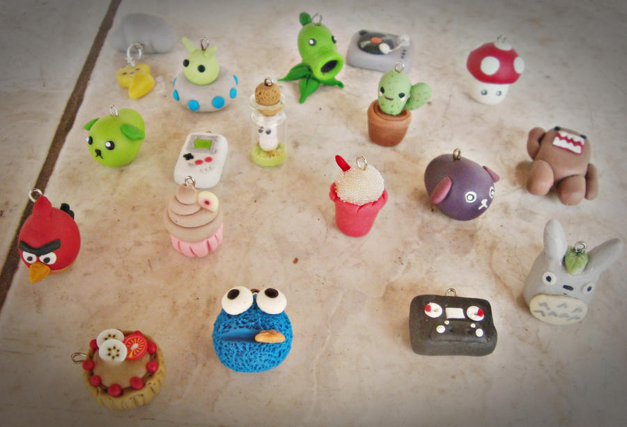 New Clay Charms by VelvetNights