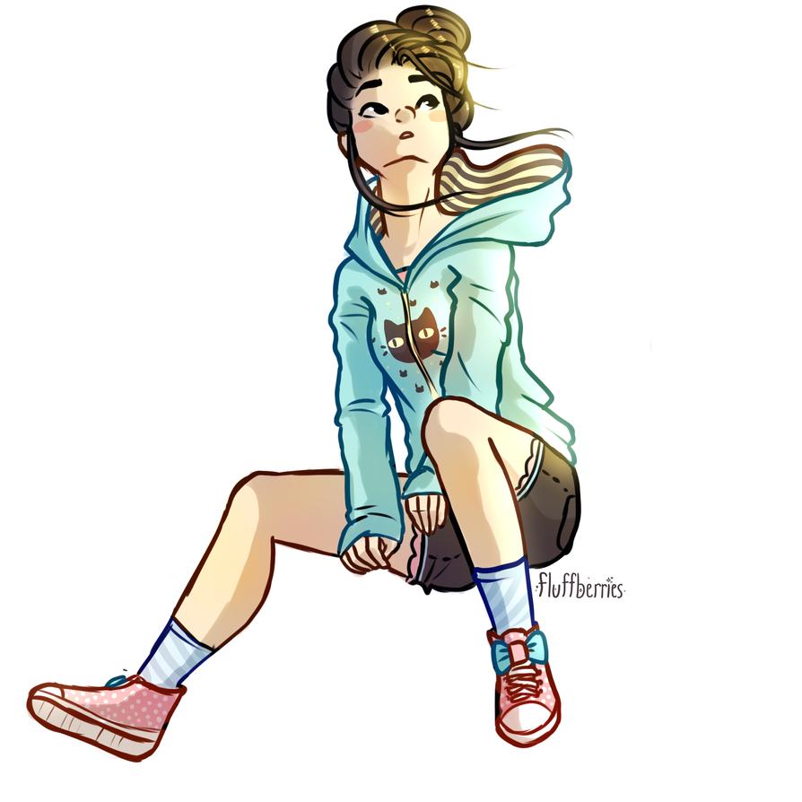Girl In Hoodie by SorbetBerry