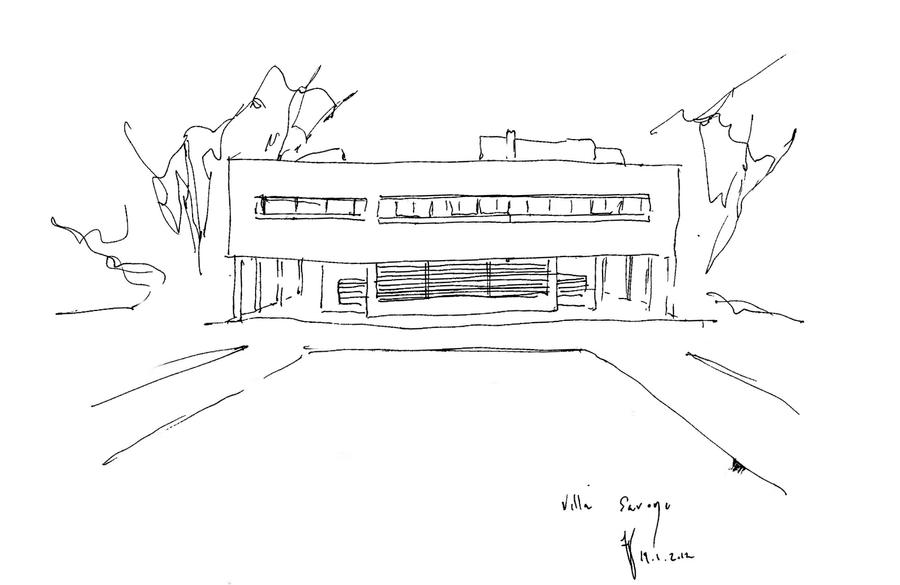 Villa Savoye Paris By 305007 On Deviantart