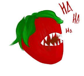 Giggling Strawberry by galled