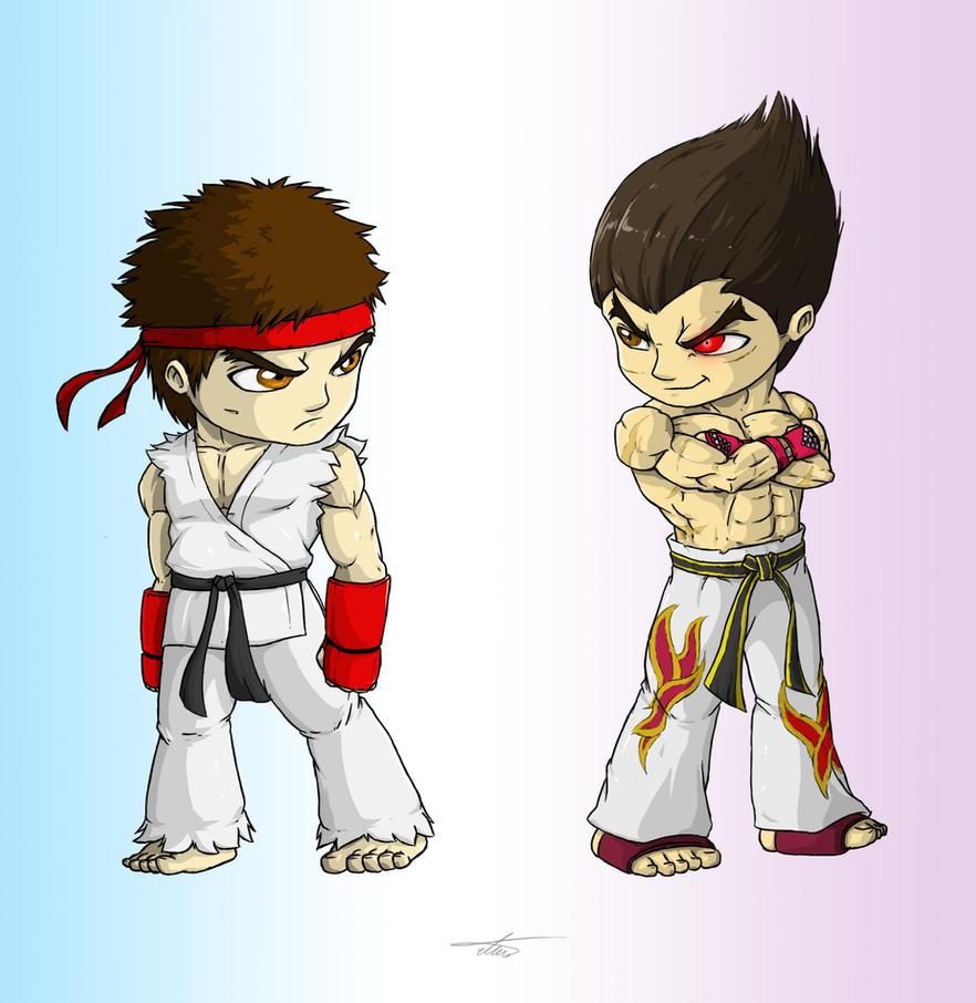SFXT SD: Ryu X Kazuya by munchkin-t