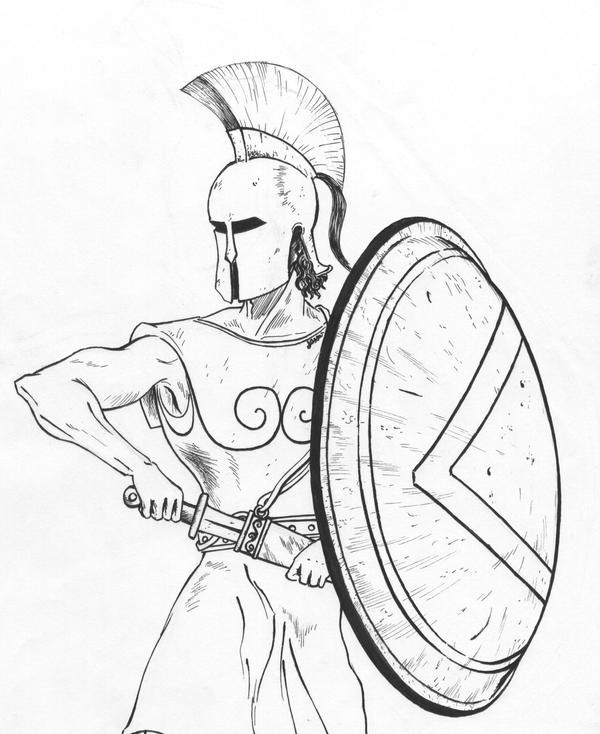 spartan warrior drawings