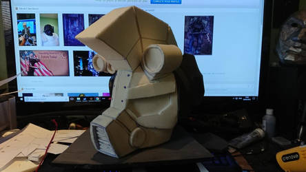 Fallout Equestria Steel Hooves helmet W.I.P part 2 by JammyMachiko