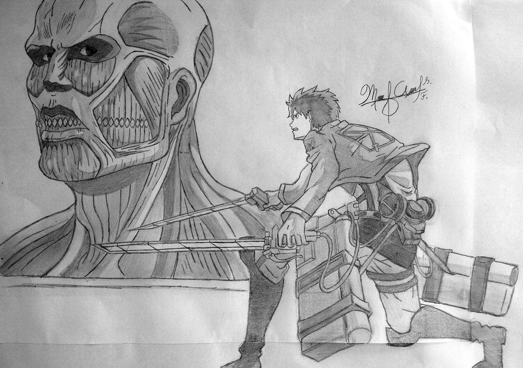 Titan Drawing Colossal Eren Vs Wings Of Freedom Attack On Tattoo