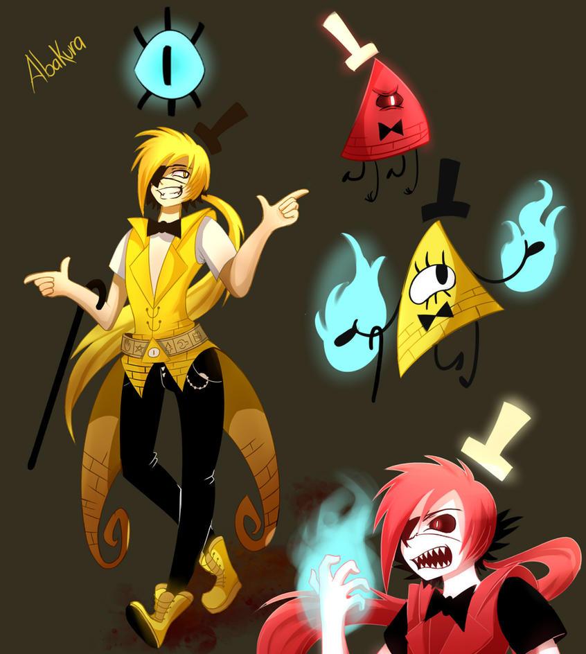 Bill Cipher human doddle... kinda by Abakura