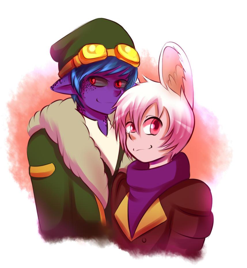 Kai and mifu by Abakura