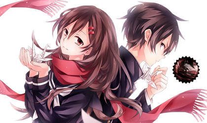 render  ayano and shintaro by liriasky d7pr6ry