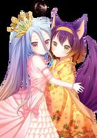 [Render] Shiro and Izuna by LiriaSky