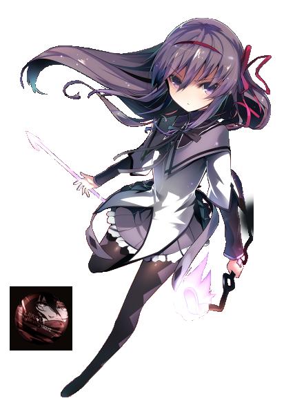 45 renders manga _render__akemi_homura_by_liriasky-d7wzdq2