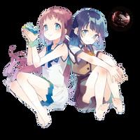 [Render] Manaka and Miuna by LiriaSky