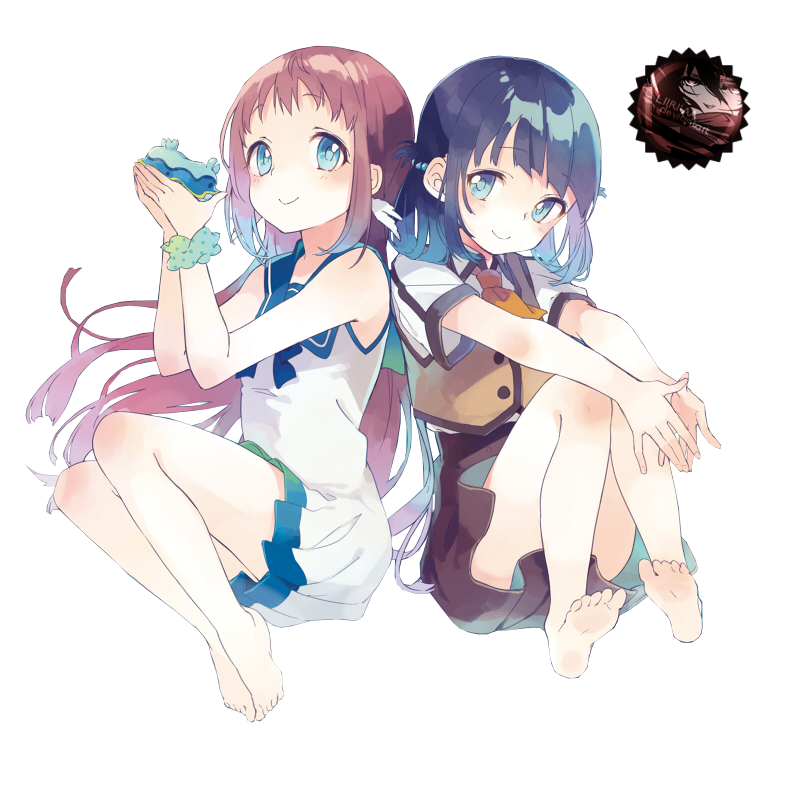 Renders anime _render__manaka_and_miuna_by_liriasky-d7wzds7