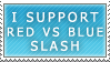 Red vs Blue Slash Stamp by maco2111