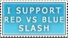 Red vs Blue Slash Stamp by maco2111