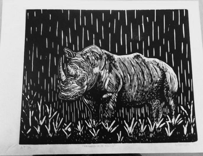 Raining On A Rhino