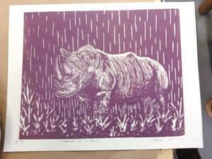 Raining on A Rhino-purple