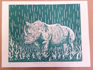 Raining On A Rhino - Green