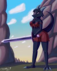Kobold Barbarian by Paradoxing5